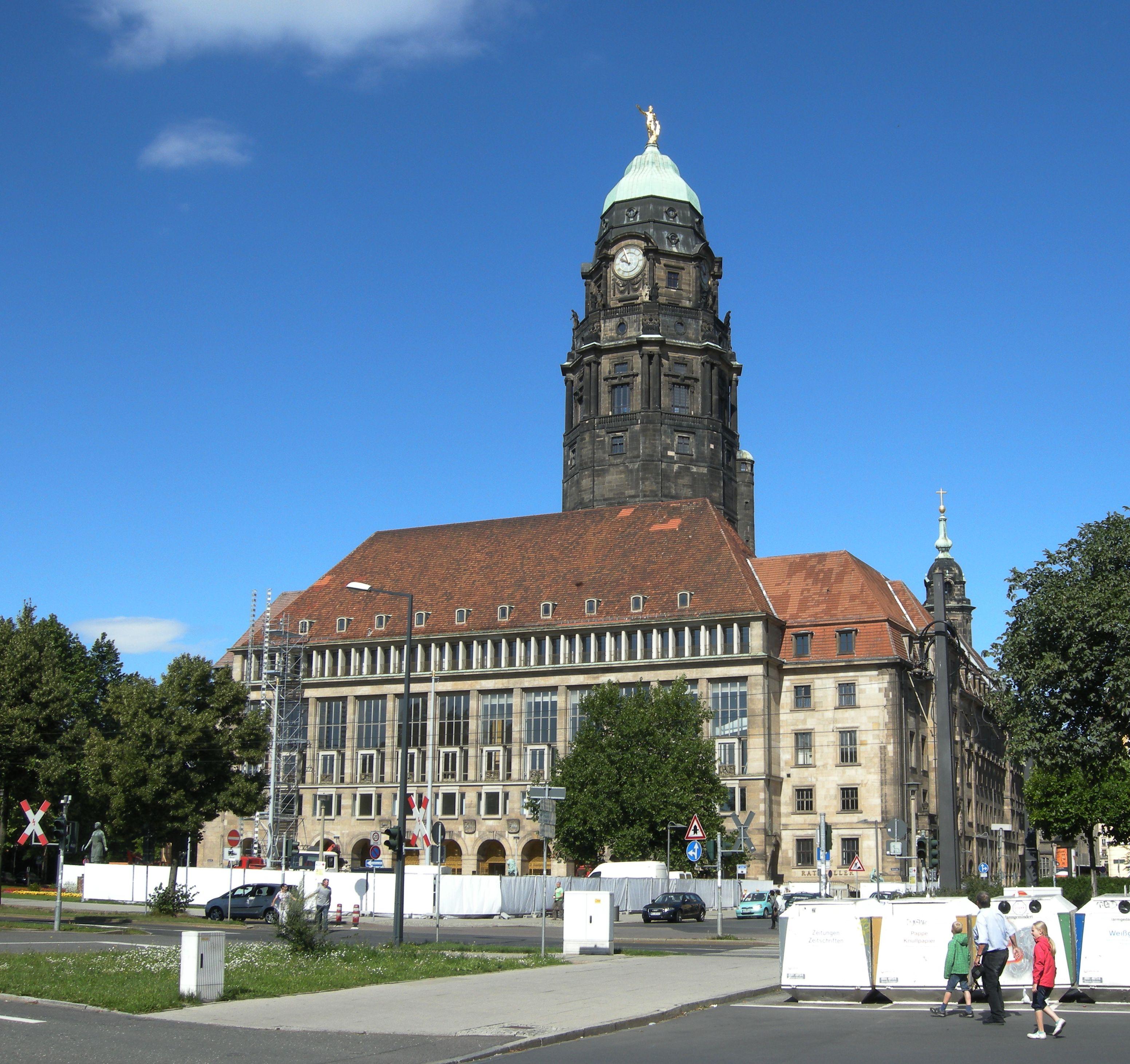 das rathaus in Dresden