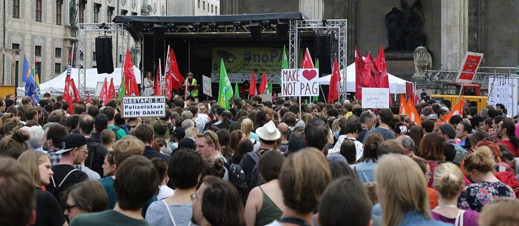Demonstration gegen das Polizeigesetz