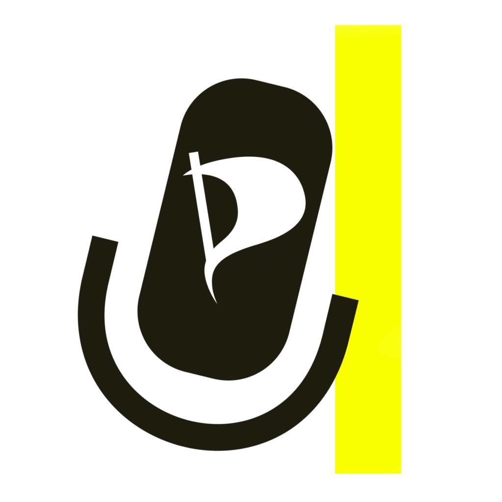 Logo des Piratencast Dresden, ein Microfon.